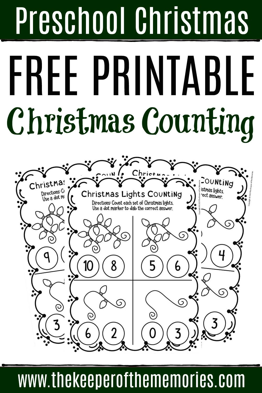 Free Printable Counting Christmas Preschool Worksheets