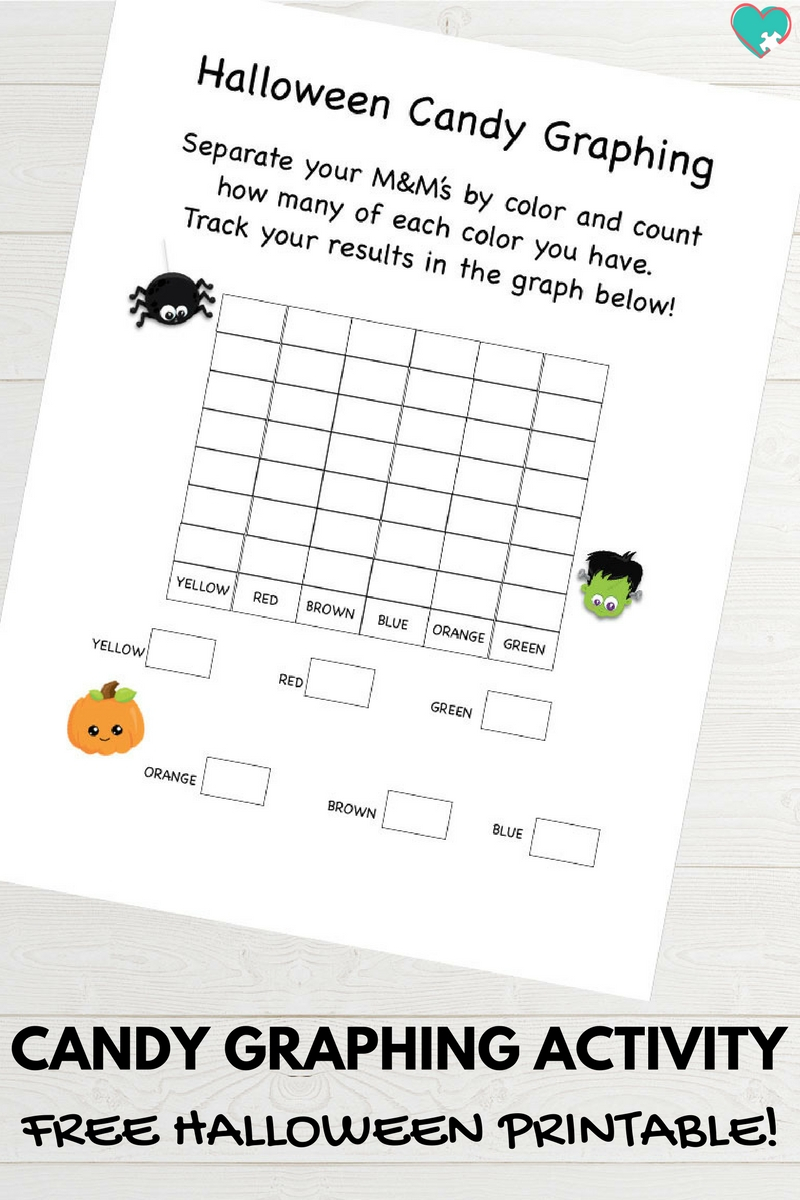 Free Printable Halloween Candy Graphing Activity - Autistic Mama