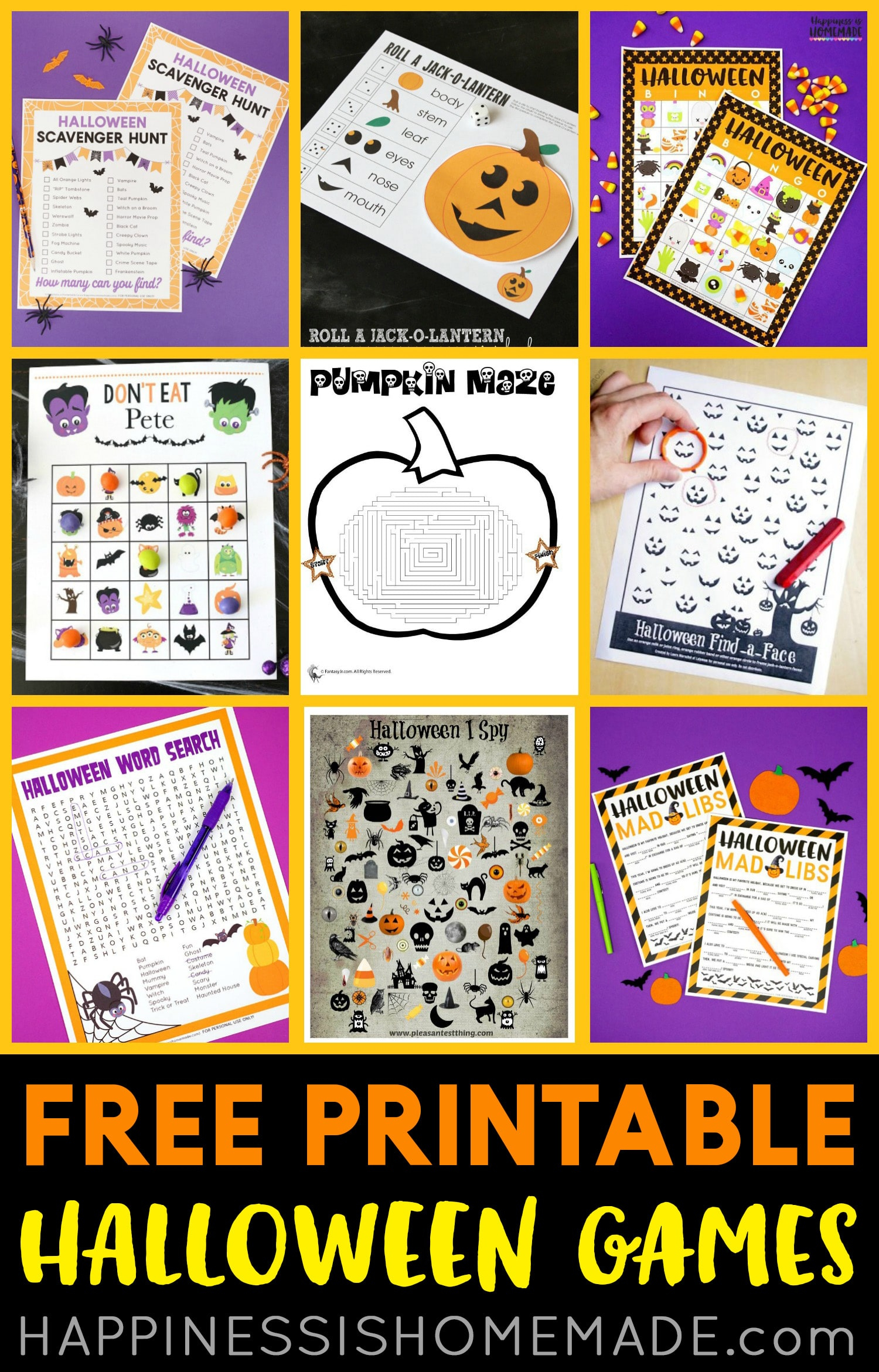 Free Printable Halloween Games - Happiness Is Homemade