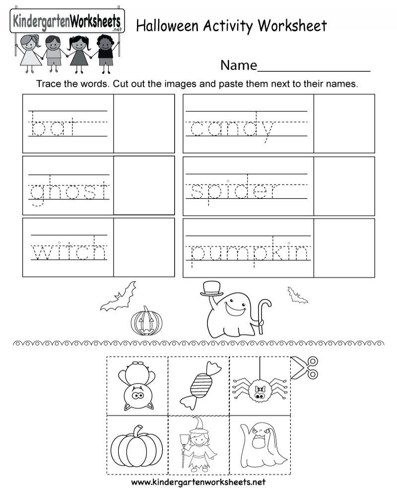 Free Printable Halloween Math Worksheets For Kindergarten In
