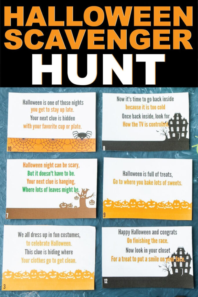 Free Printable Halloween Scavenger Hunt That's Perfect For Kids