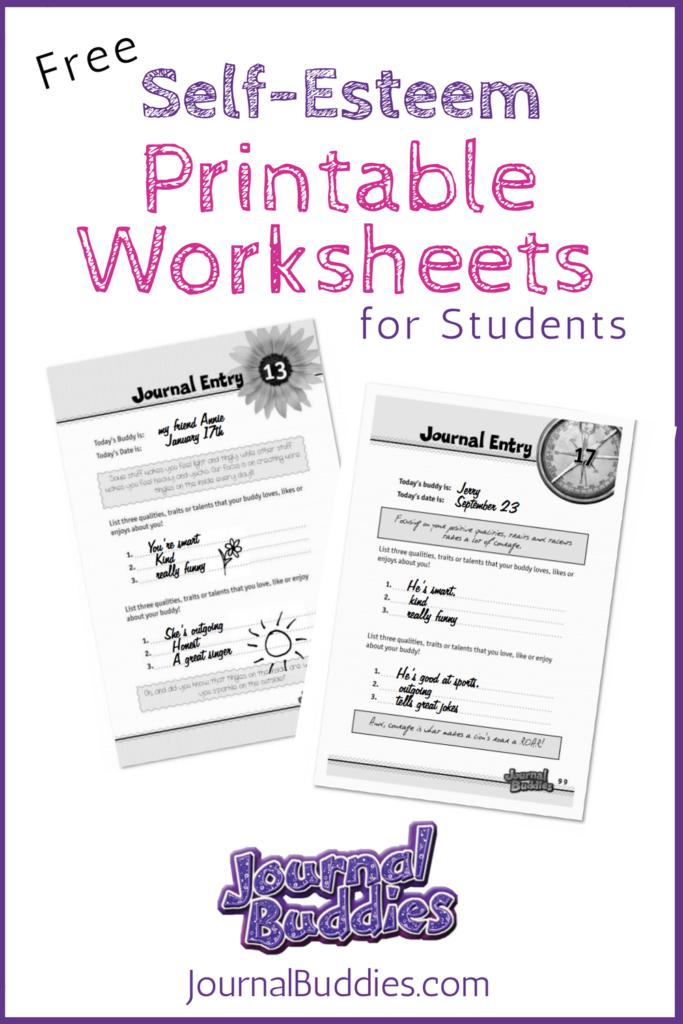 Free Printable Self Esteem Worksheet For Kids | Self Esteem