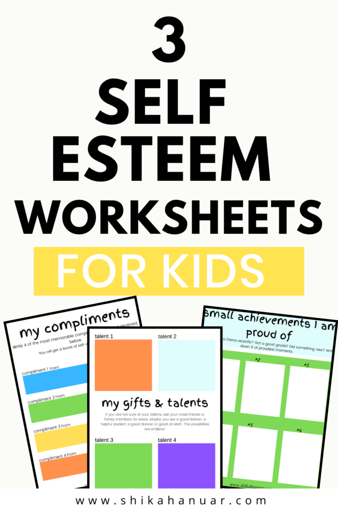 Free Printable) Self Esteem Worksheets For Kids To Give Them