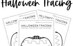 Halloween Pre Writing Worksheet