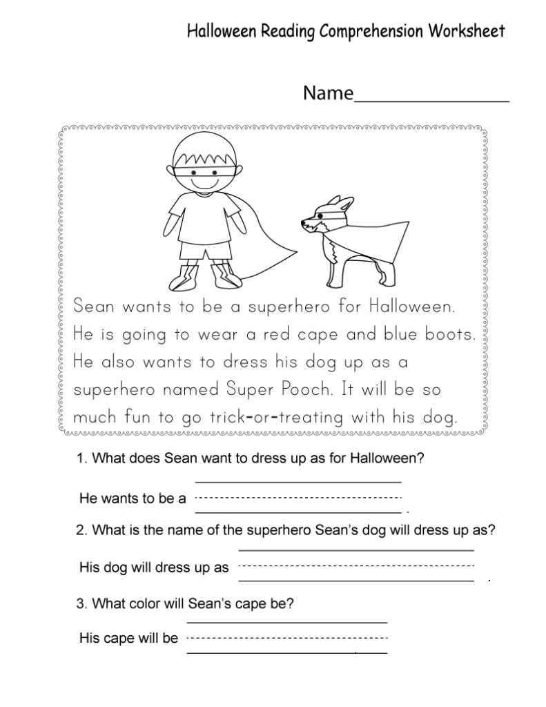 Free Printable Worksheets For Kids | Comprehension