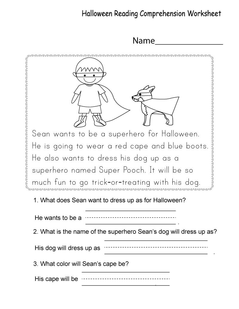 Free Printable Worksheets For Kids   Comprehension