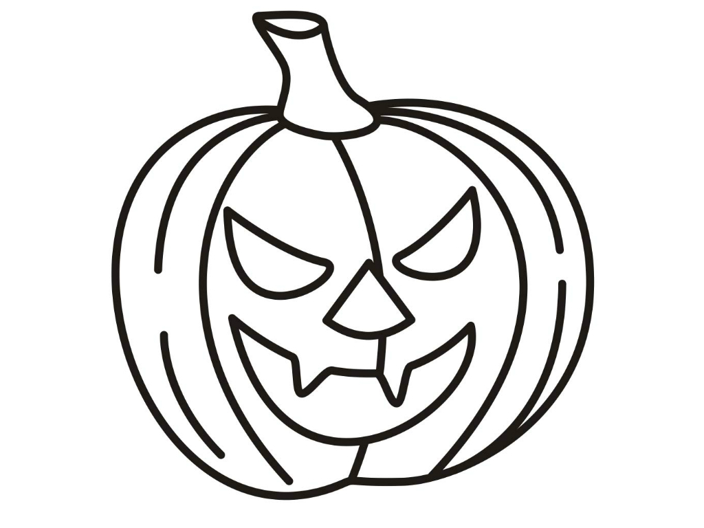 Free Pumpkin Coloring Pages For Adultsntable Halloween Scary