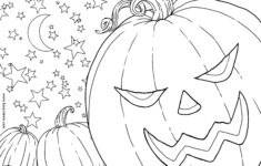 Free Pumpkin Patch Halloween Coloring Page | Karyn Lewis