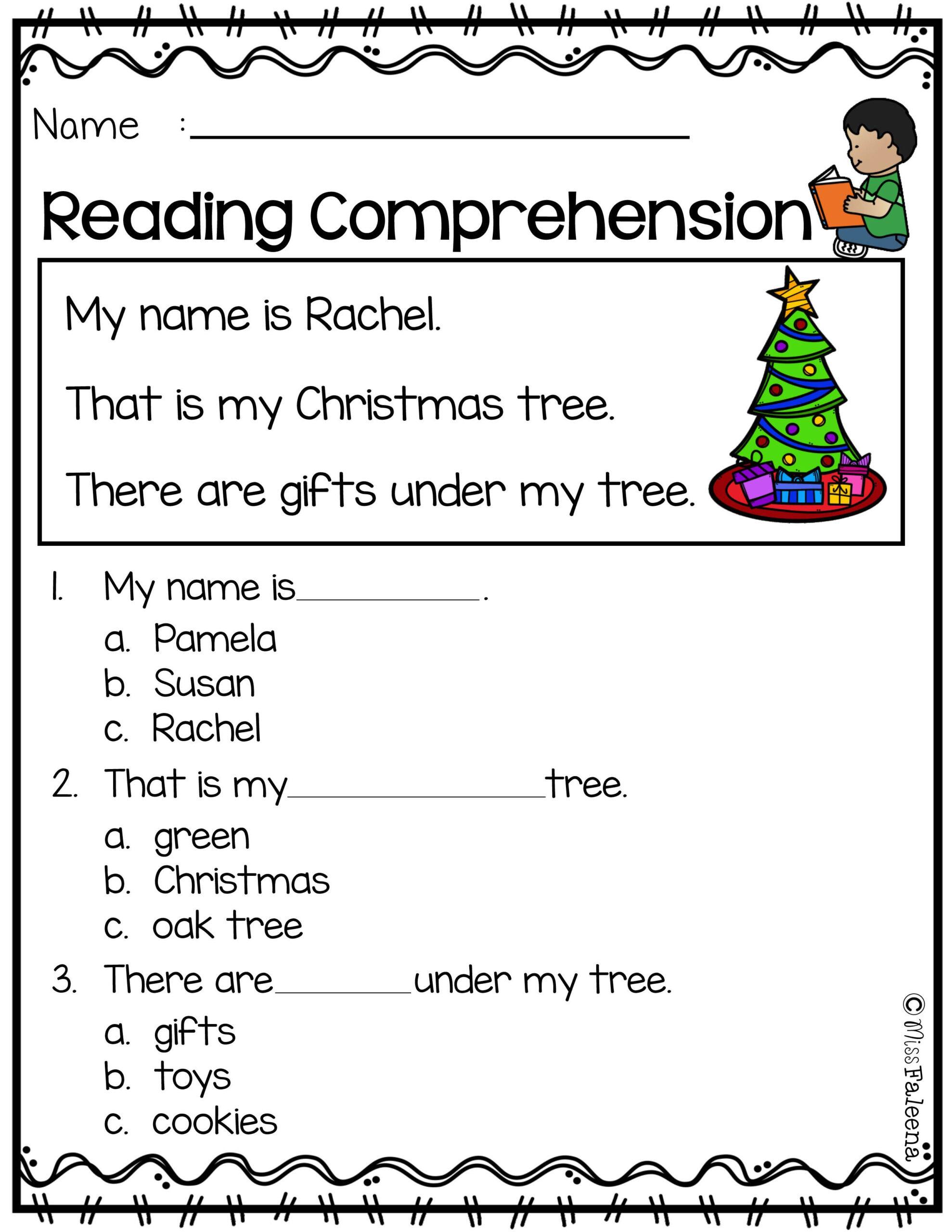 Free Reading Comprehension | Reading Comprehension