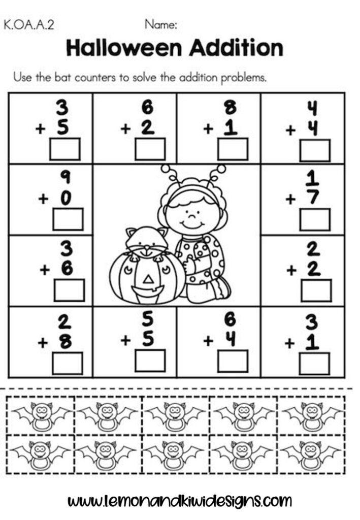 Free Spooktacular Halloween Math Worksheets For Kids — Lemon