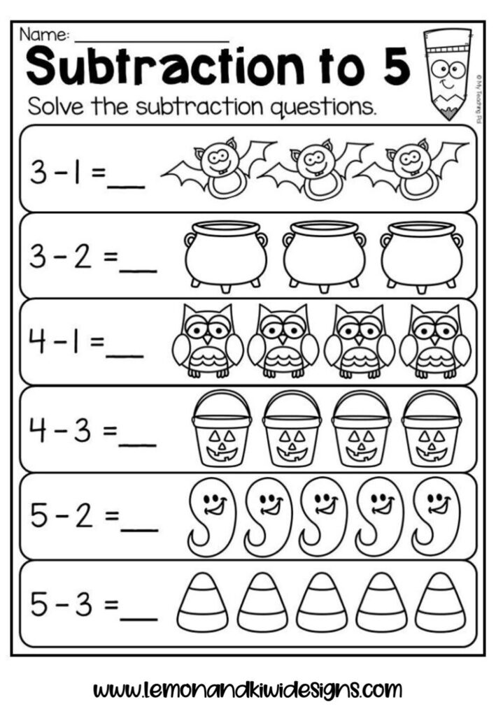Free Spooktacular Halloween Math Worksheets For Kids — Lemon