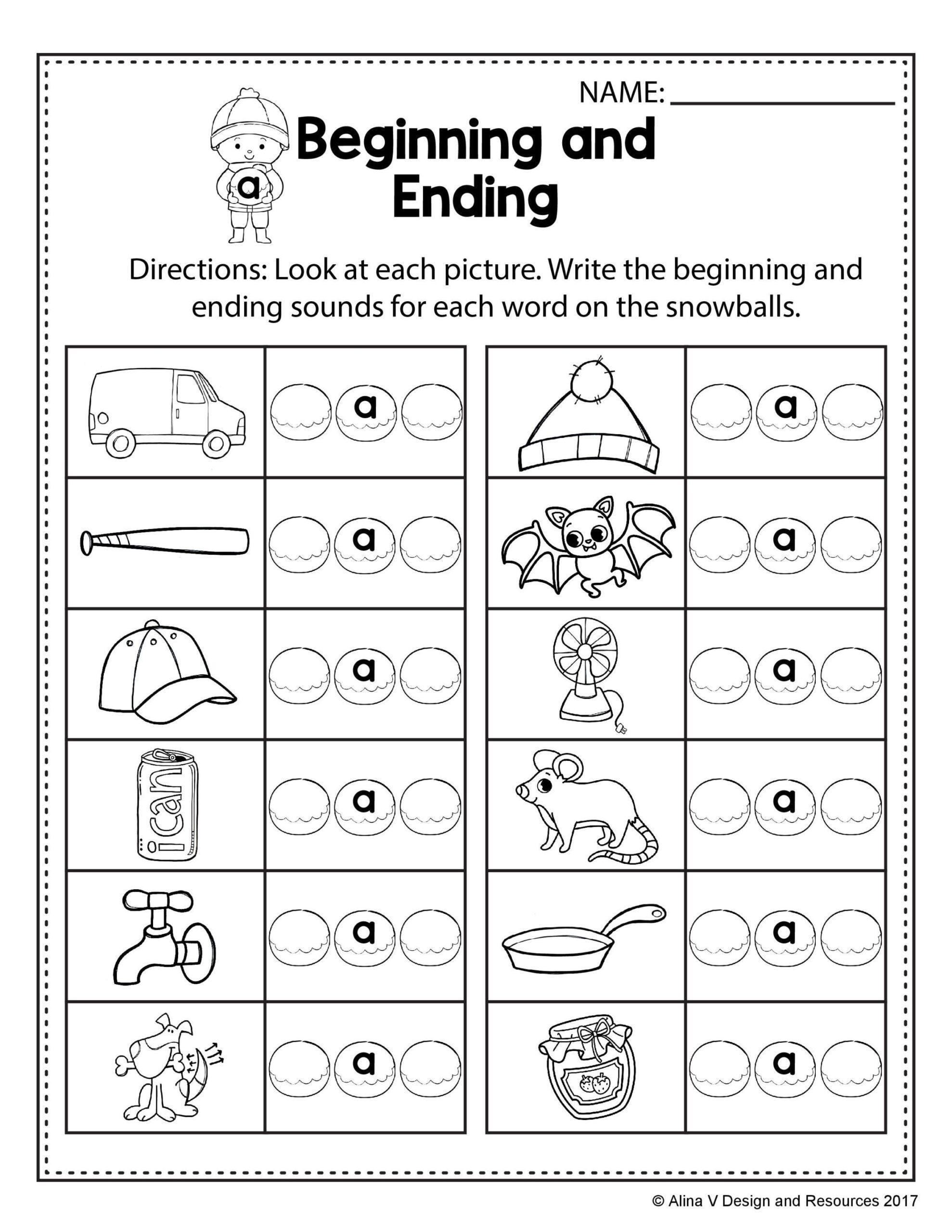 Free Winter Literacy Worksheet For Kindergarten No Prep