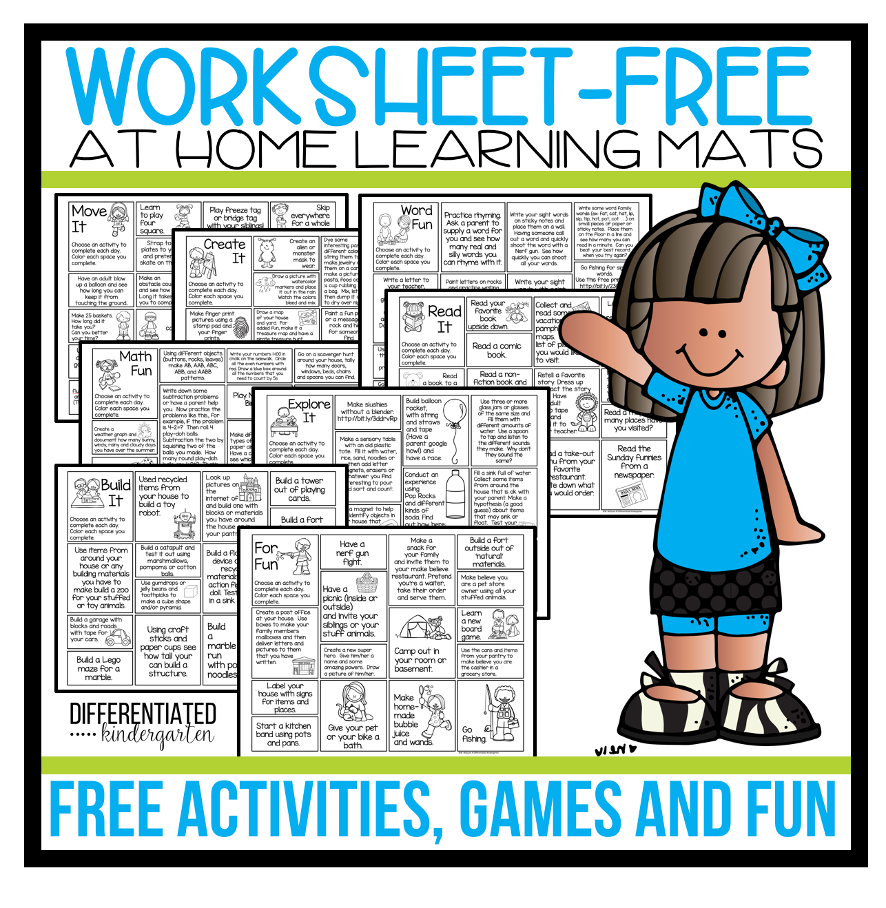 Free 'worksheet Free' At-Home Activities, Games And Ideas