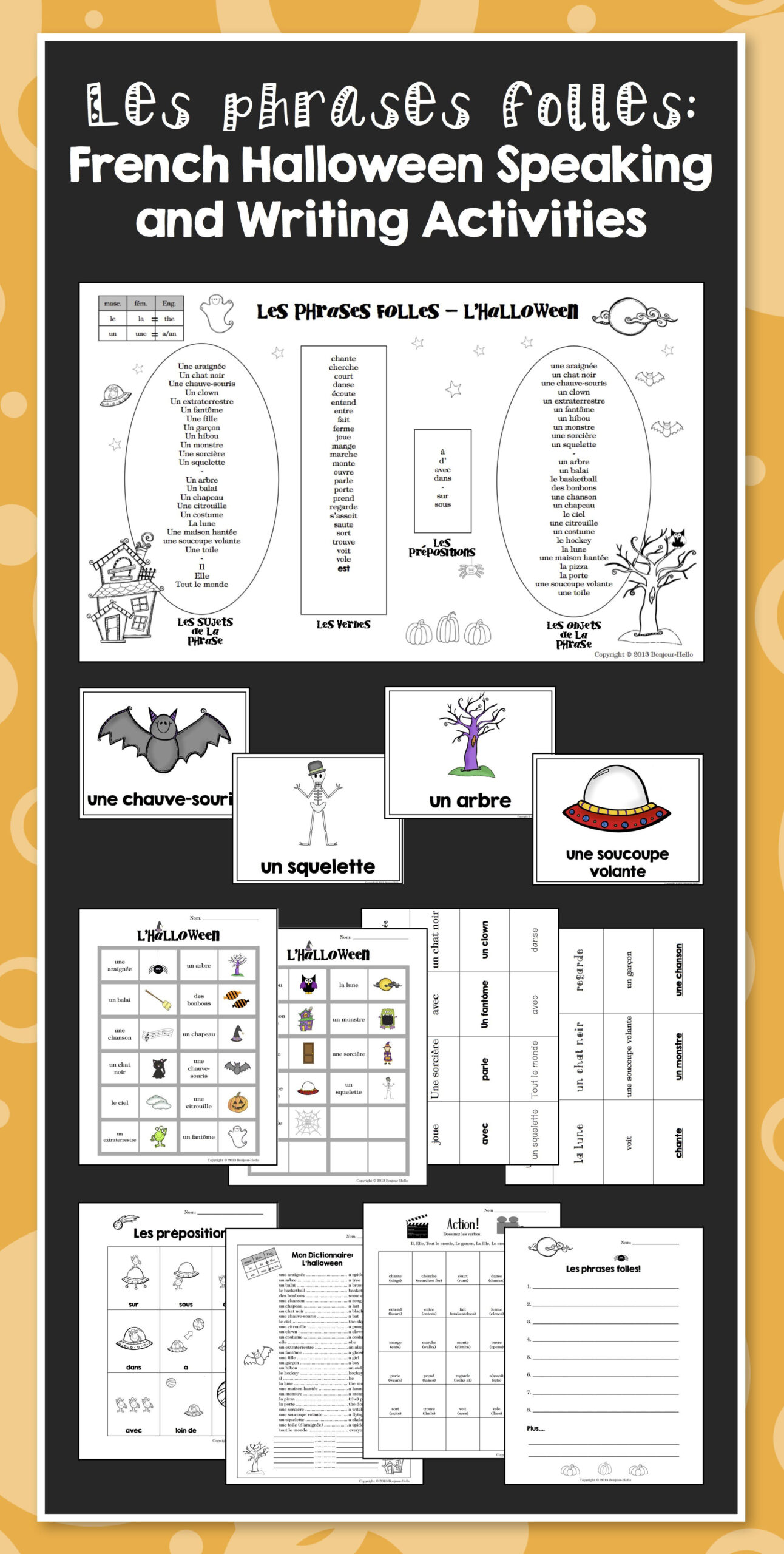 French Halloween Speaking And Writing Activities | Teaching