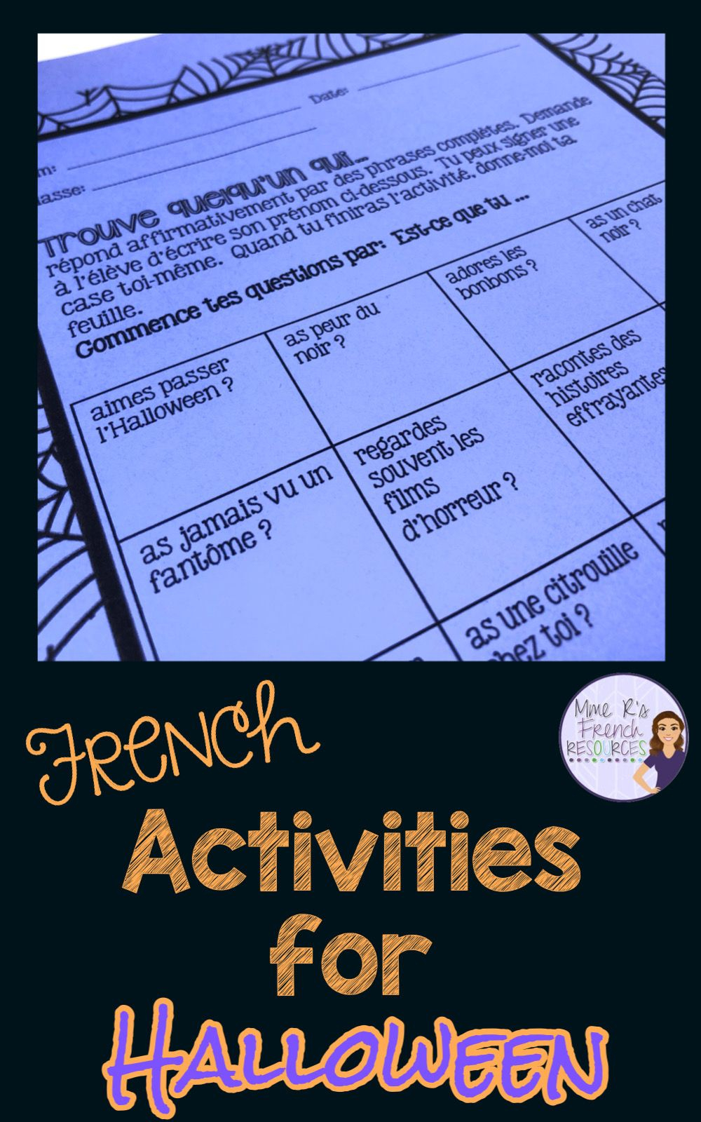 French Halloween Worksheets In 2020 | Learning Stations