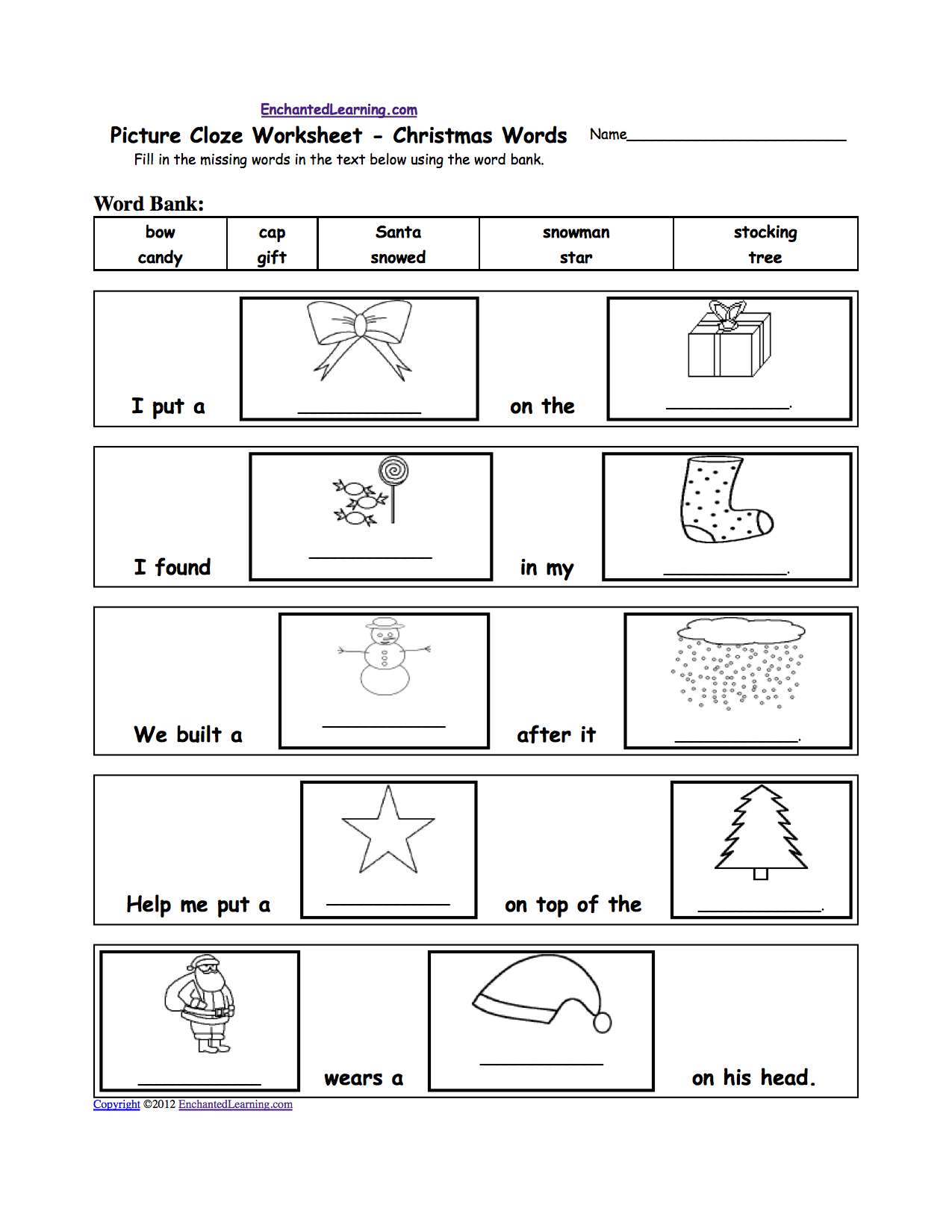 French Xmas Worksheet | Kids Activities