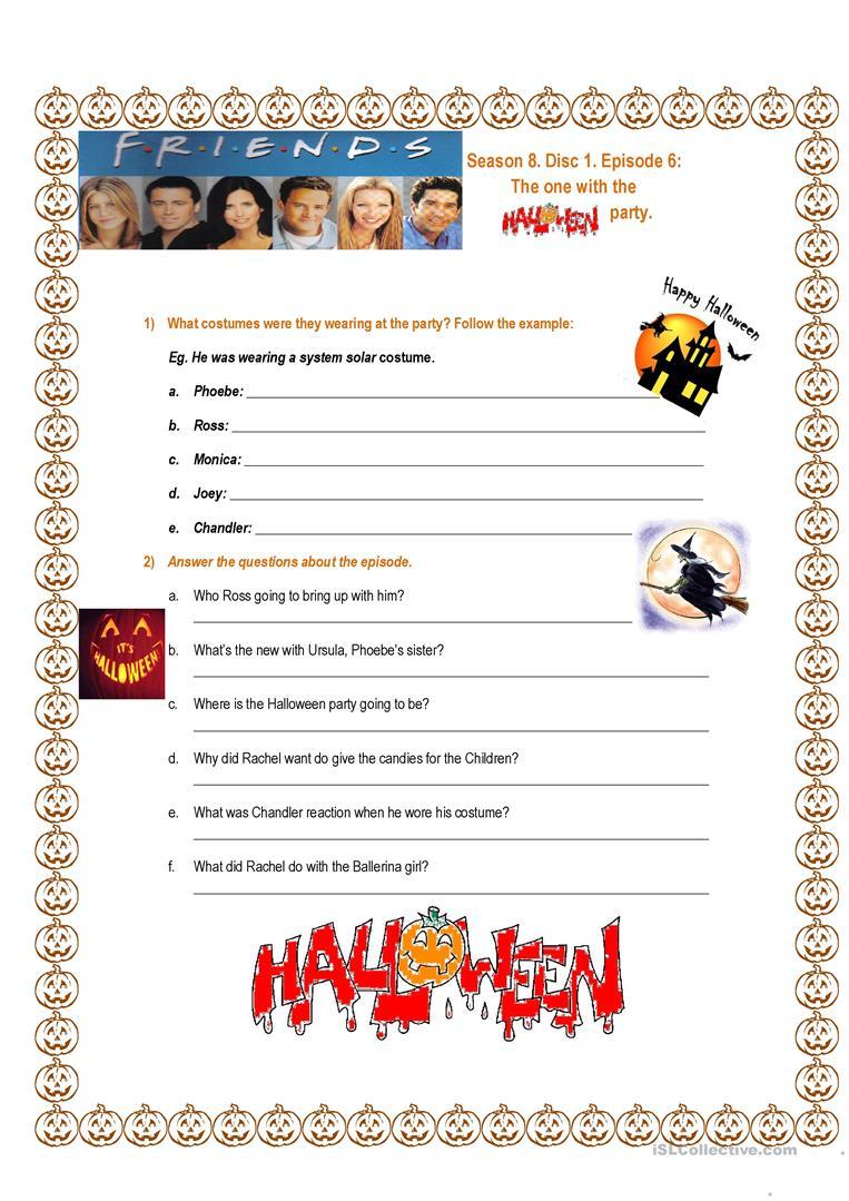 Friends Tow The Halloween Party Season 8 Episode 6 - English