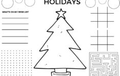 Christmas Activities Worksheets For Adults