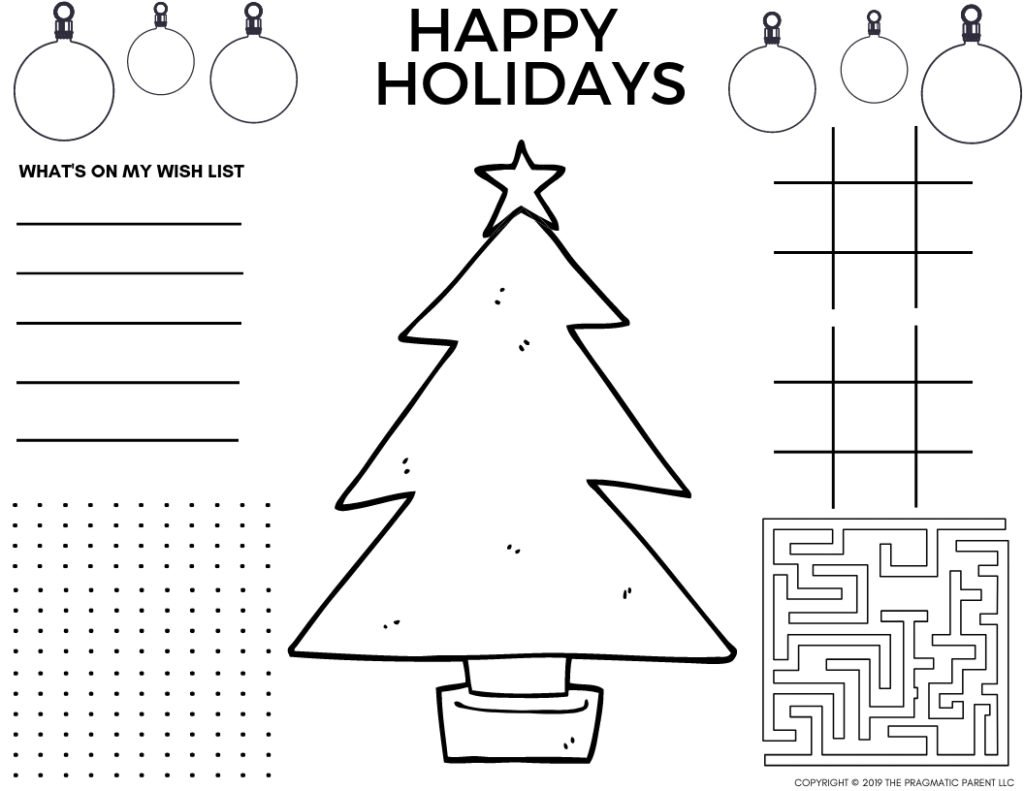 Full Page Christmas Coloring Pages Outstanding Photo Ideas