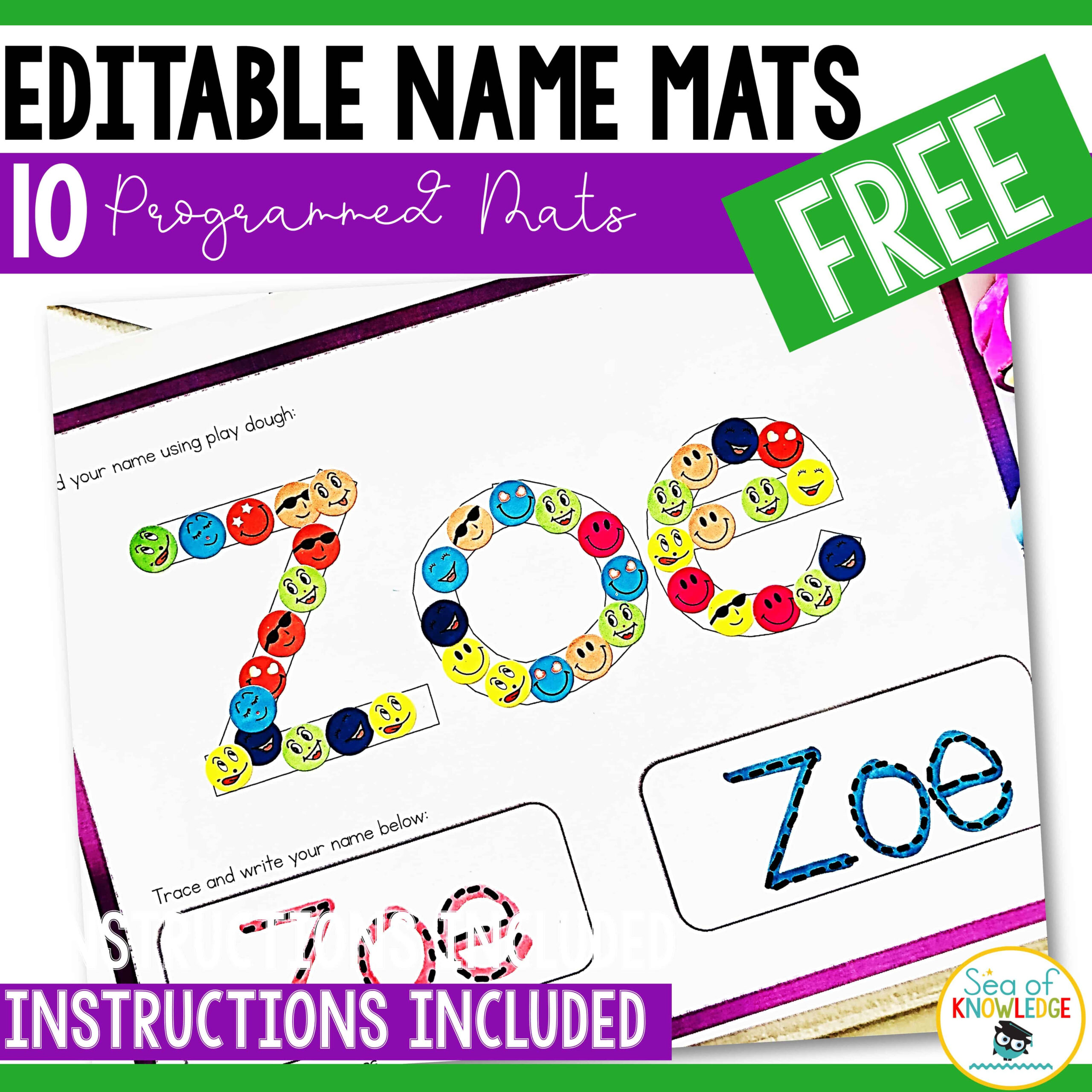 Full-Proof Editable Name Tracing Activities For Preschoolers with Name Tracing Freebie