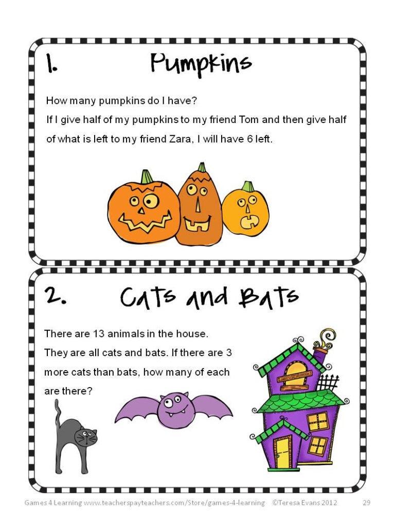 Fun Games 4 Learning: Halloween Math Fun!