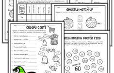 5th Grade Halloween Themed Math Worksheets