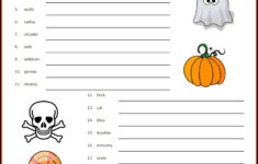 How Many Words Can You Make From Halloween Worksheet