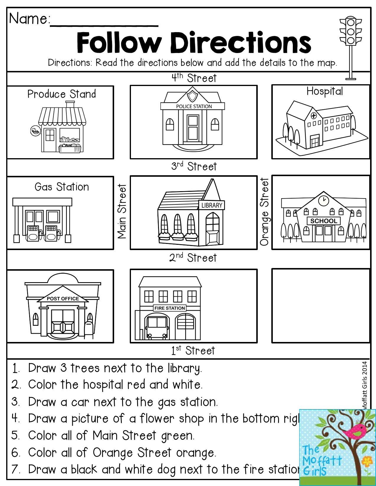 Funny Following Directions Worksheets | Printable Worksheets