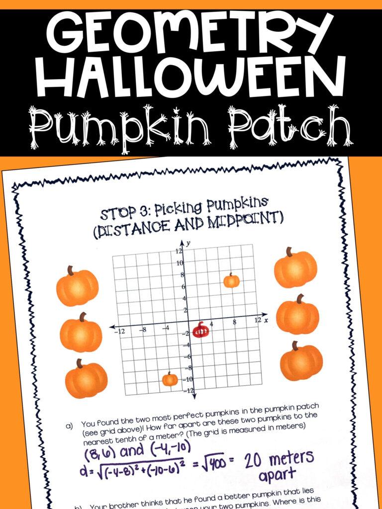 Geometry Halloween Activity | Halloween Math Activities