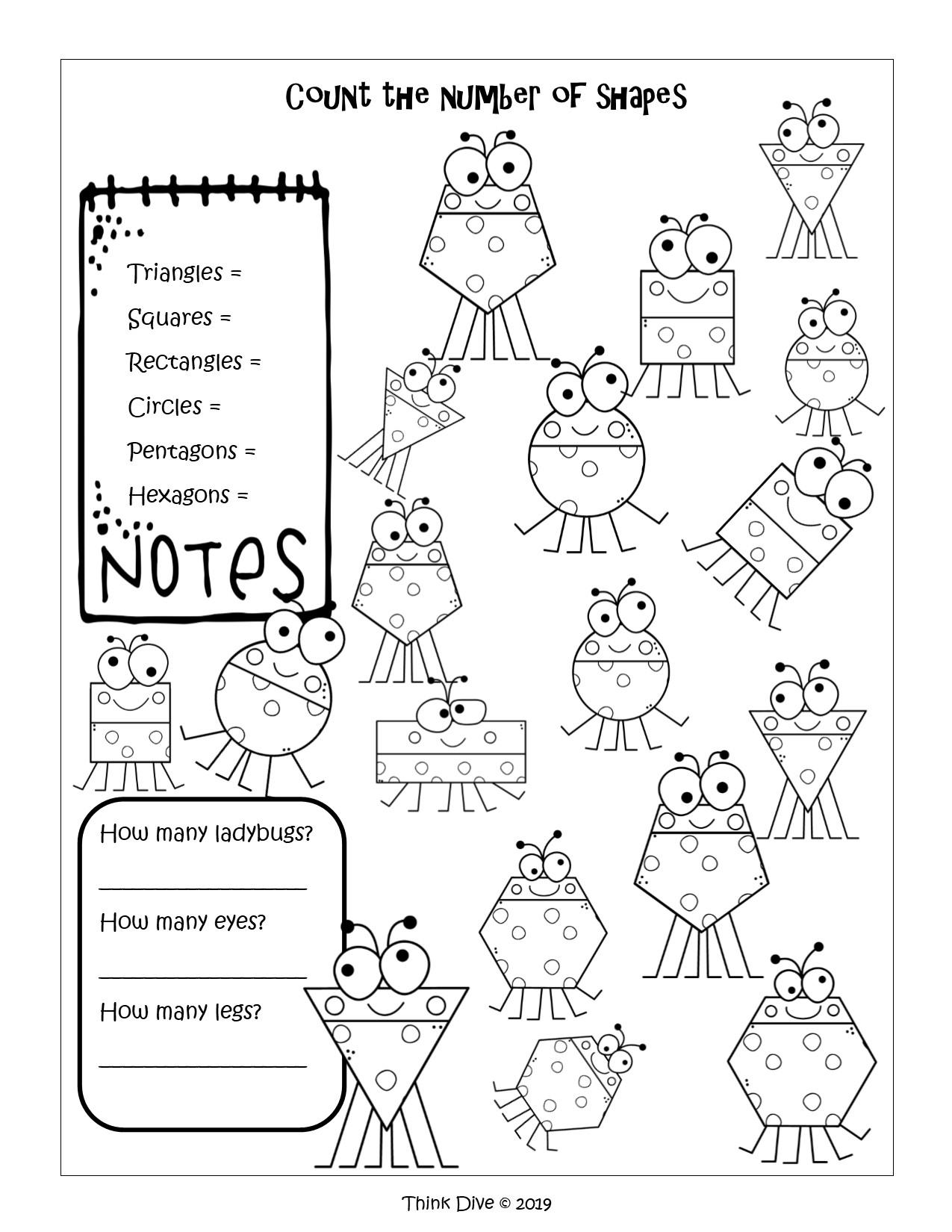 Geometry Shapes Freebie Kindergarten 1St 2Nd Ks1 Teaching
