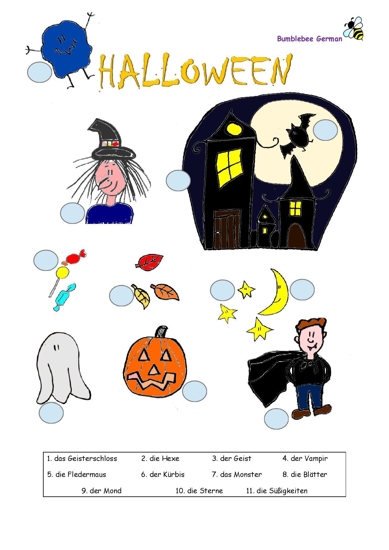 German Worksheets For Kids - Printouts - Beegerman
