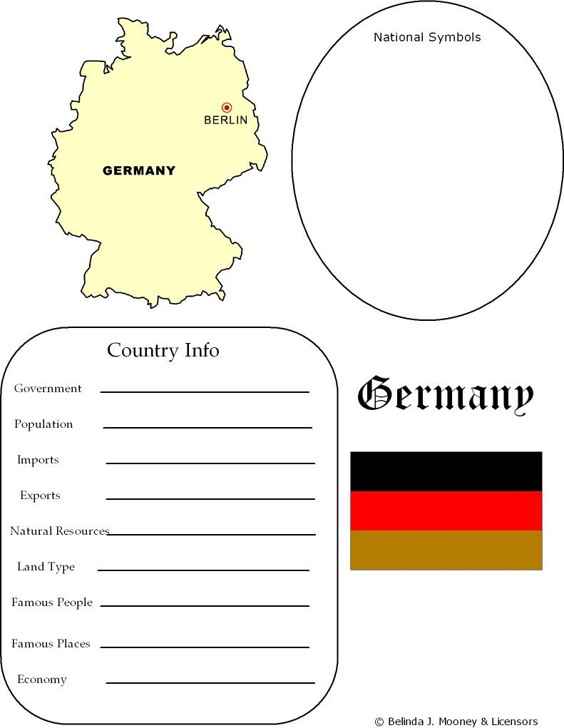 Germany Map & Worksheet - Geography | Geography For Kids