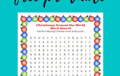 Christmas Around The World Worksheets Printables