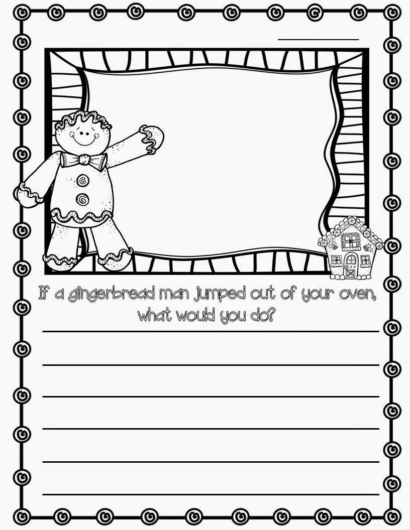 Gingerbread Man Writing Prompt | Gingerbread Man Writing