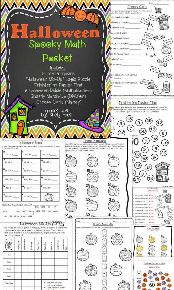 Grade 9 Math Exam Practice Halloween Math Worksheets For