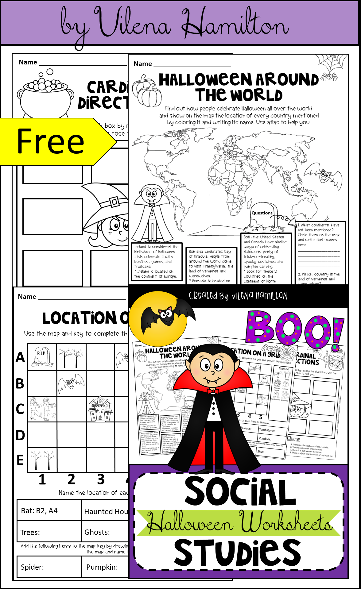 Grades 1-3 Print & Go Worksheets   Social Studies Worksheets