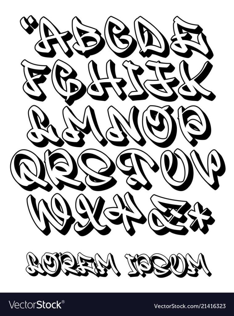Graffiti Alphabet 3D  Hand Written   Font