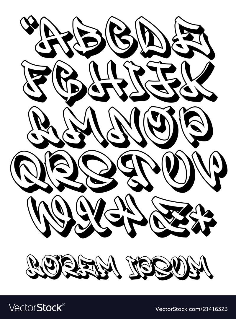 Graffiti Alphabet 3D- Hand Written - Font