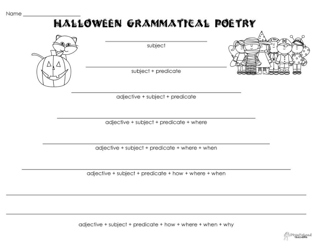 Grammatical Poetry – Halloween   Squarehead Teachers