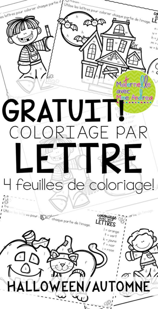 Gratuit! Free French Fall/halloween Colourletter Sheets