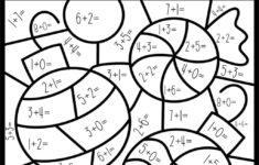 Christmas Addition Math Worksheets 2nd Grade Coloring