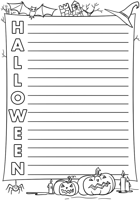 Halloween Acrostic Poem Template   Free Printable Papercraft