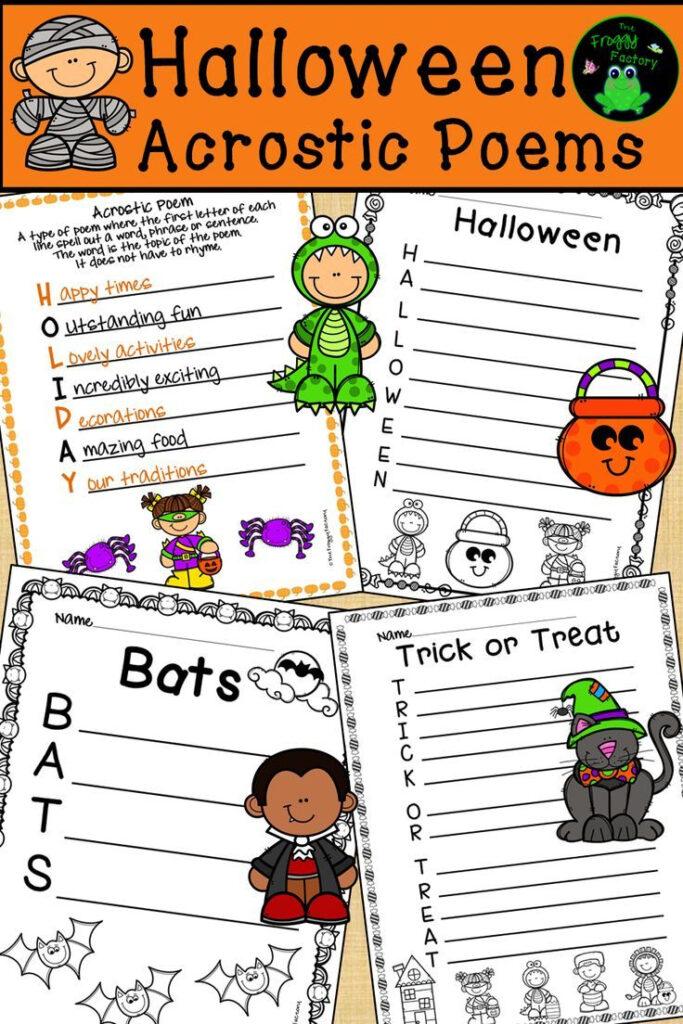 Halloween Acrostic Poems   Halloween Writing Activity