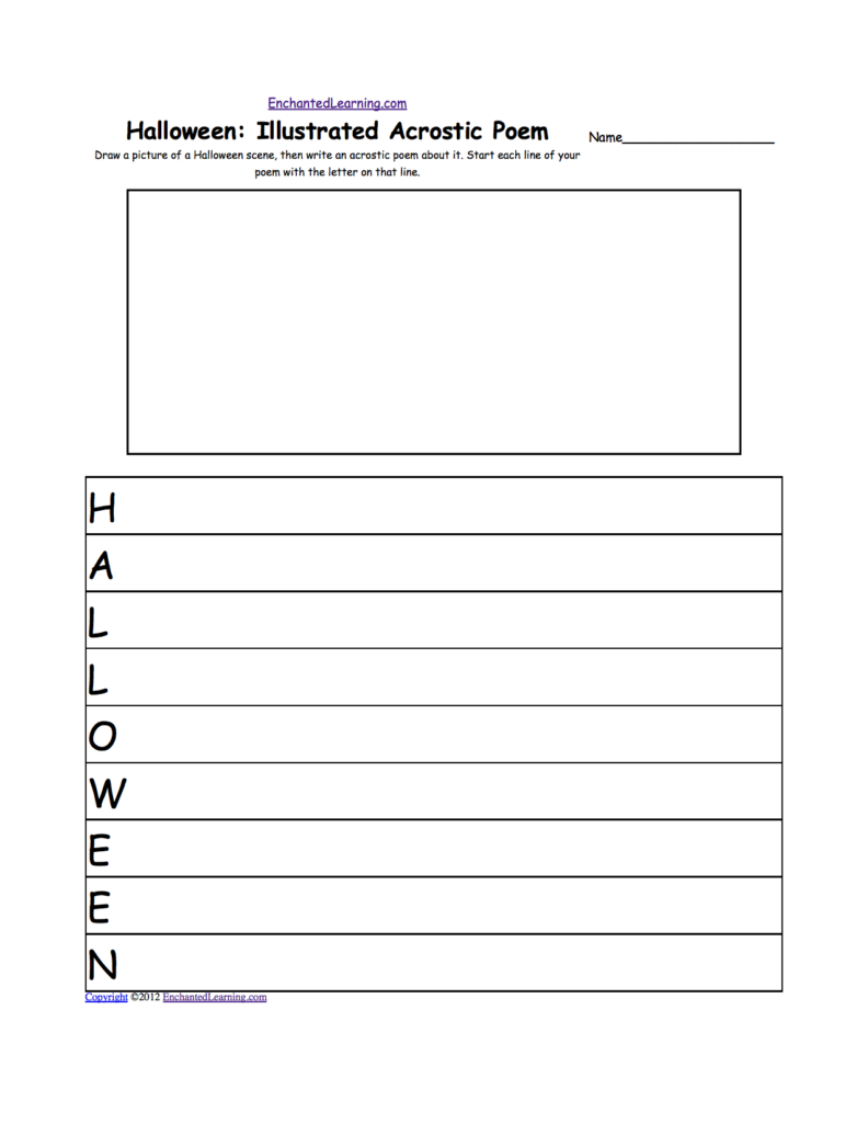 Halloween Activities: Coloring And Drawing Worksheets