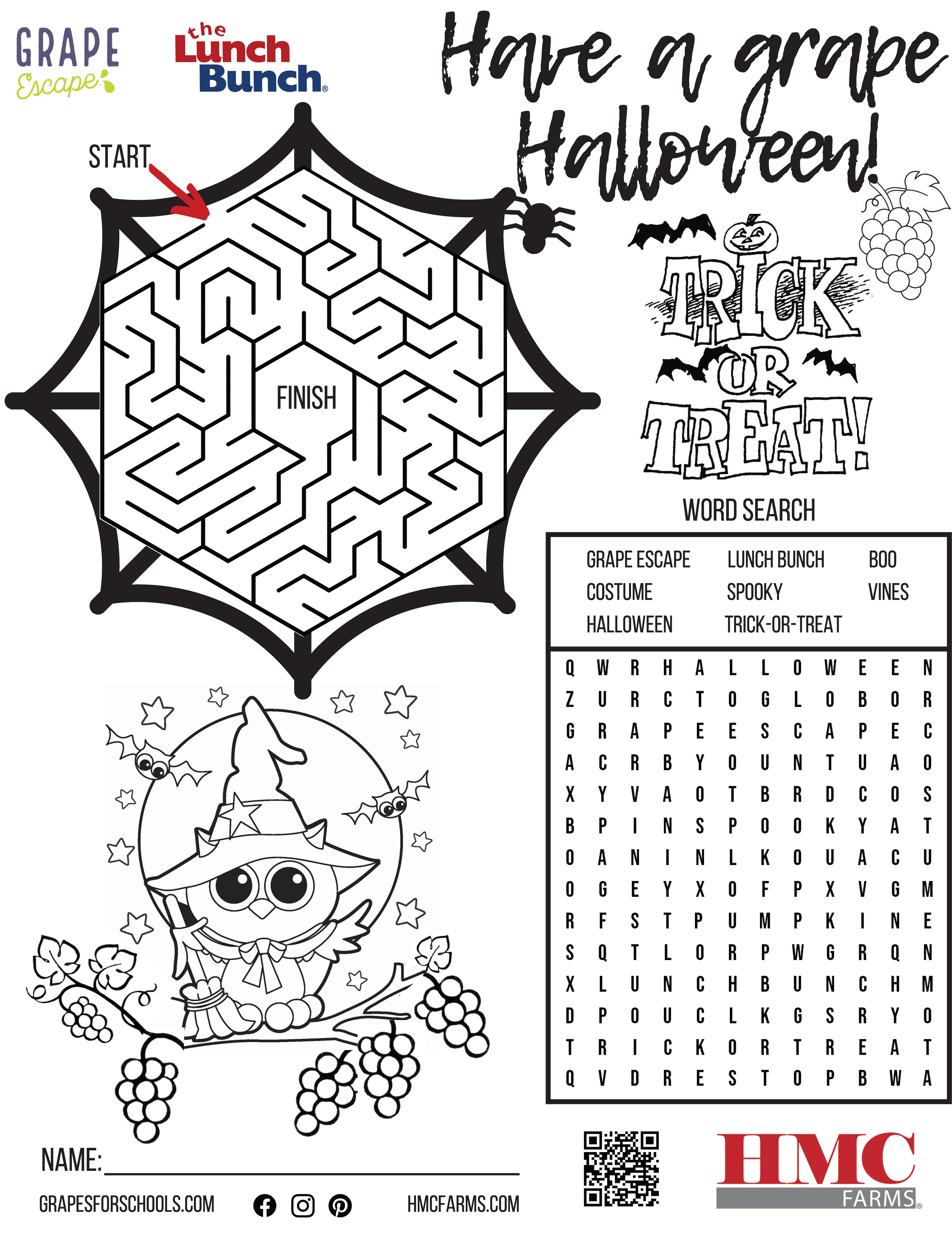 Halloween Activity Sheet For Kids – Hmcfarms