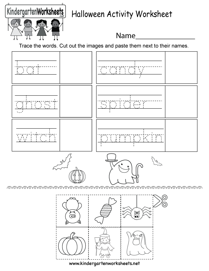 Halloween Activity Worksheet - Free Kindergarten Holiday