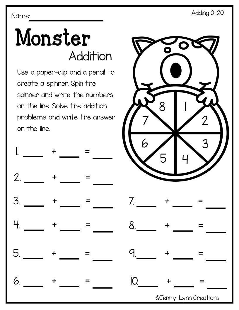 Halloween Addition   Math Classroom, First Grade Math, Daily
