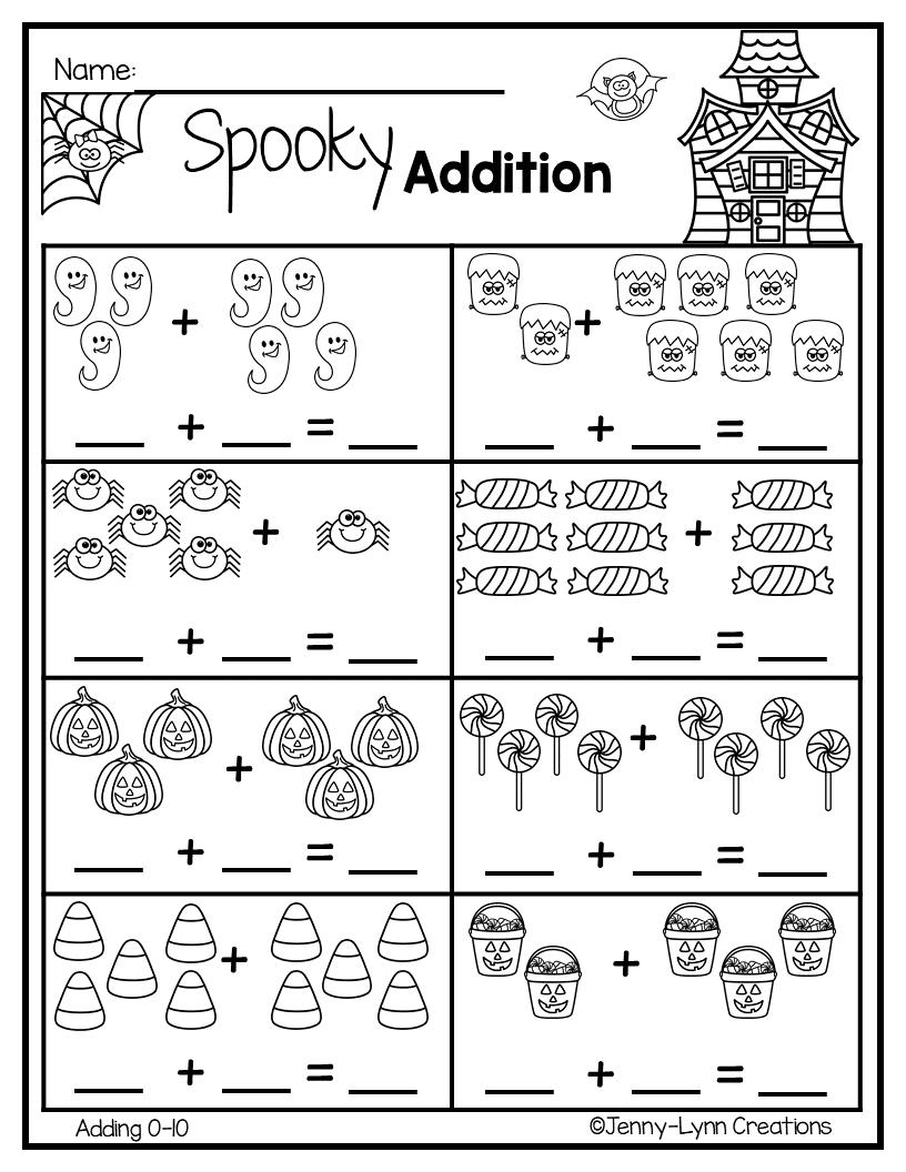 Halloween Addition   Math Worksheets, Math Literacy, Winter
