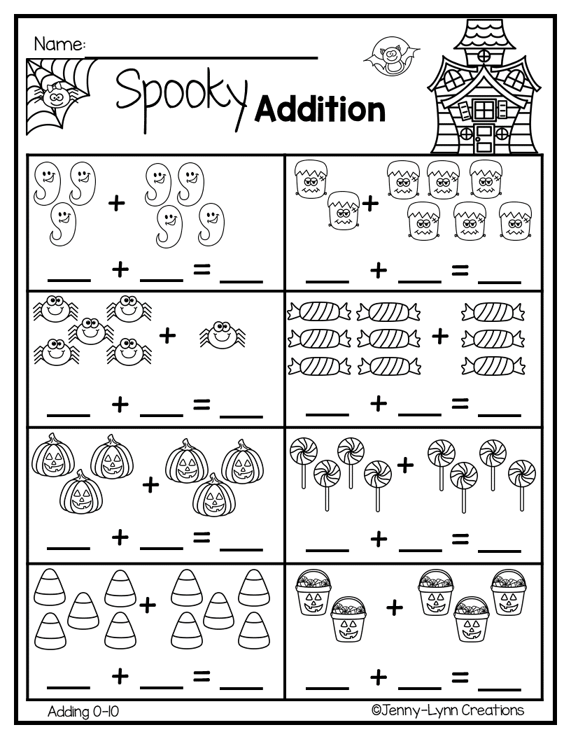Halloween Addition | Math Worksheets, Math Literacy, Winter