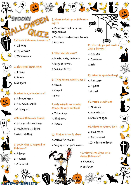 Halloween Adults Worksheet